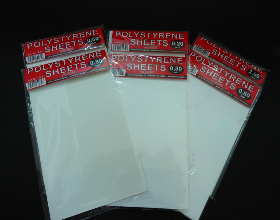 Plastikové destičky 0,3 mm