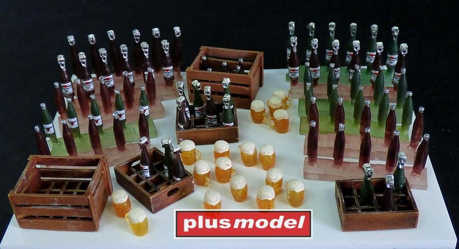 Pivní lahve a bedny