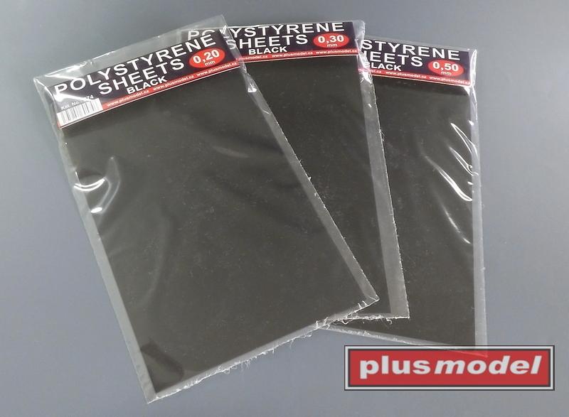 Plastikové destičky černé 0,2 mm