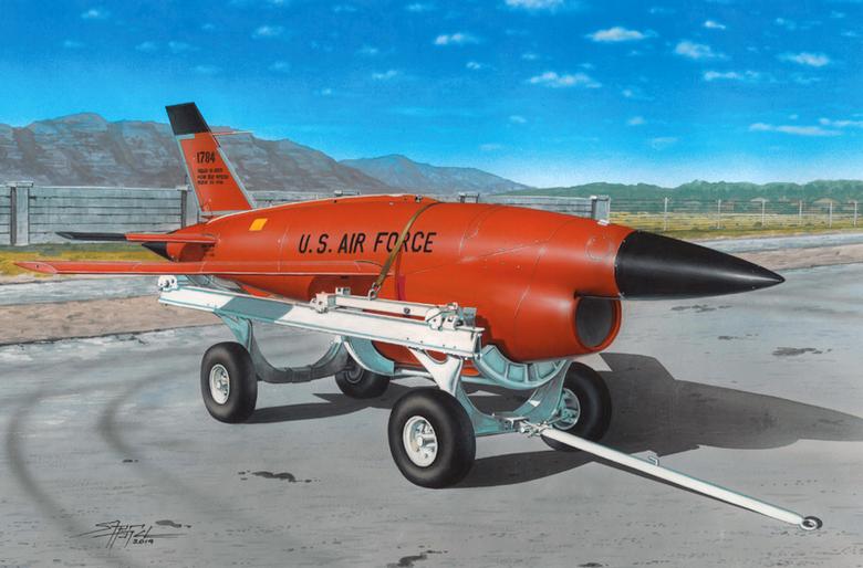BQM-34 Firebee s transportním vozíkem