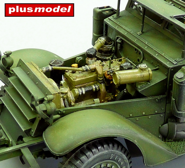 U.S. Troop Carrier Halftrack – motorový set-1