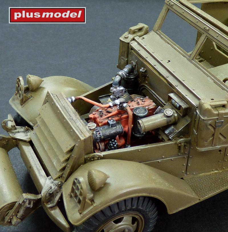M3 Scout Car - motorový set-1