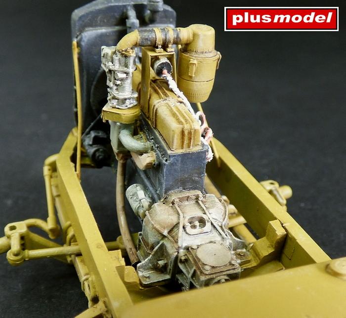 Detailní set motorového prostoru Opel Blitz - Italeri-1