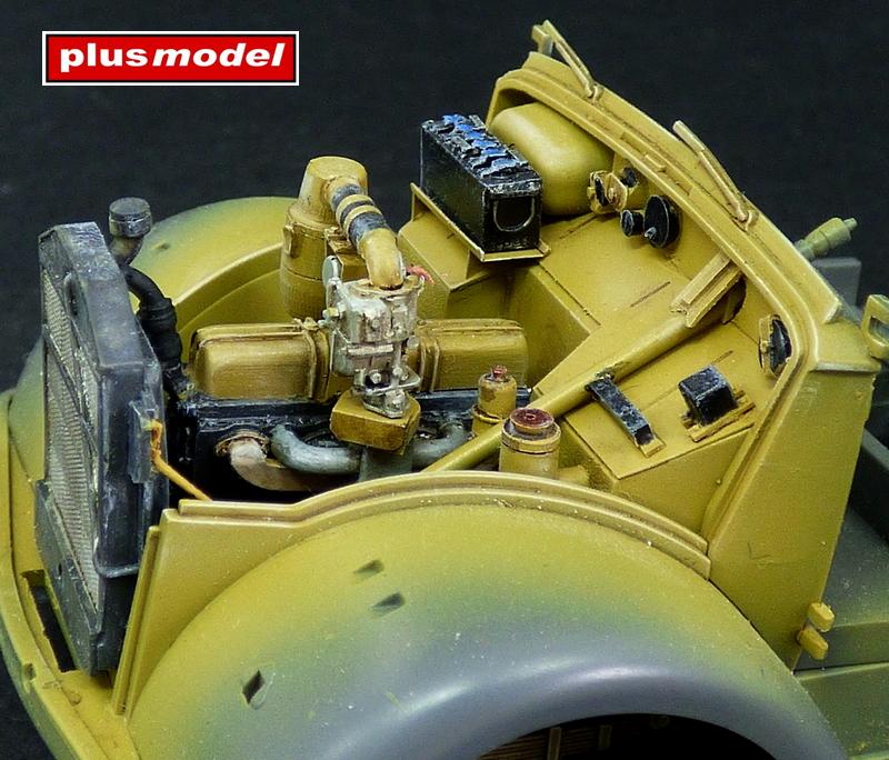 Detailní set motorového prostoru Opel Blitz - Tamiya-1