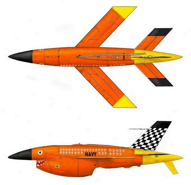 BQM-34 Firebee s transportním vozíkem-1