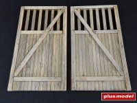 Wooden gate - straight